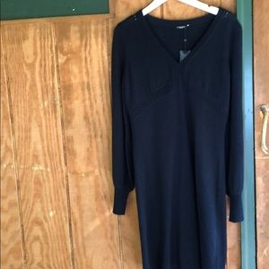 Magaschoni Cashmere navy dress